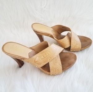 Michael Kors• Wooden Leather Sandals 7M